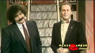 Renzo Arbore con Diego Abatantuono