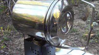 Ultralight Backpacking Stove Roasting A Whole Chicken! / Trangia / G2 Nano / Zebra Billy Bush Pot.