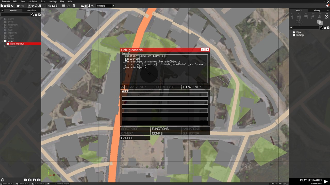 Arma 3 - How to remove map objects in Eden editor