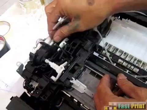 How to install the ink drain hose CANON Printer IP3680
