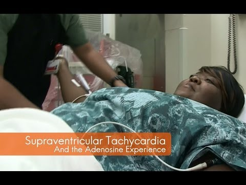 Treating supraventricular tachycardia with adenosine