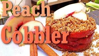 Raw Vegan Dessert Peach Cobbler