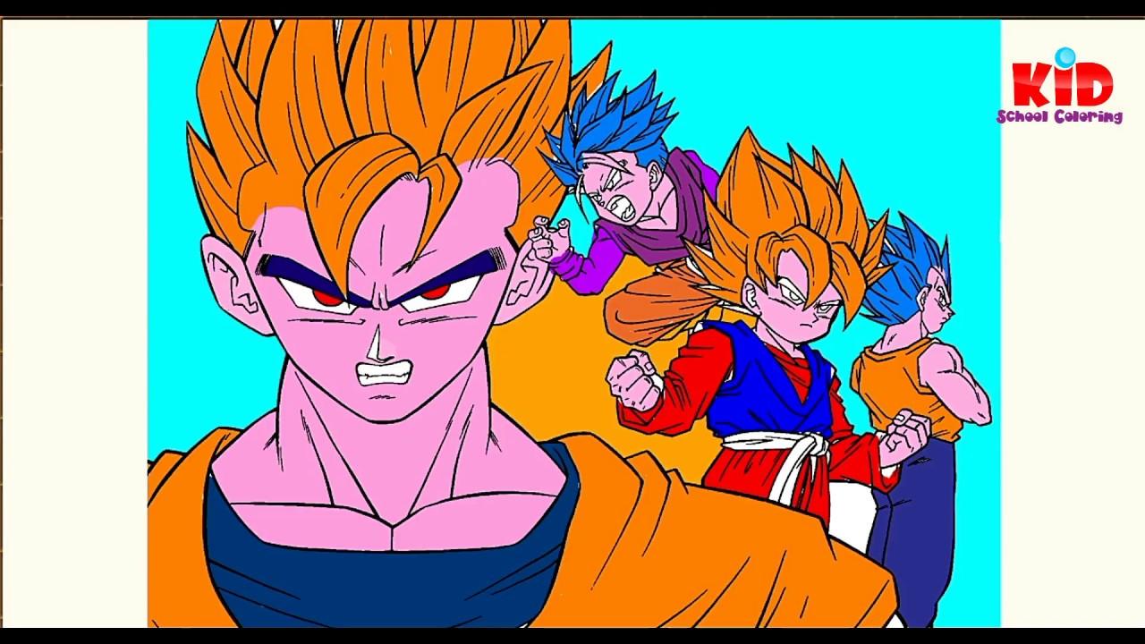 Dragon Ball Z Coloring pages super saiyan Goku Coloring book for ...