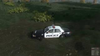 Полицейская машина упала в овраг с обрыва  Полицейские машинки мультик