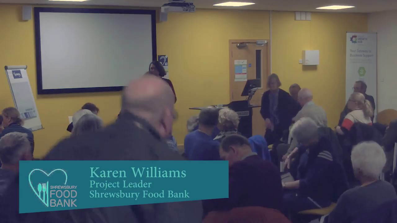 Karen Williams Poverty In Our Community Shropshire Humanists 15th March 2018