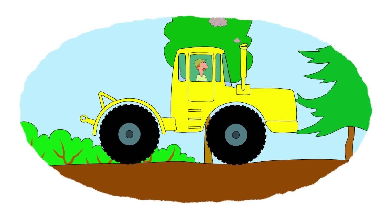 A colorear! - Los tractores Parte 2 - Vídeo educativo infantil - YouTube