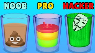 NOOB vs PRO vs HACKER in Mix and Drink