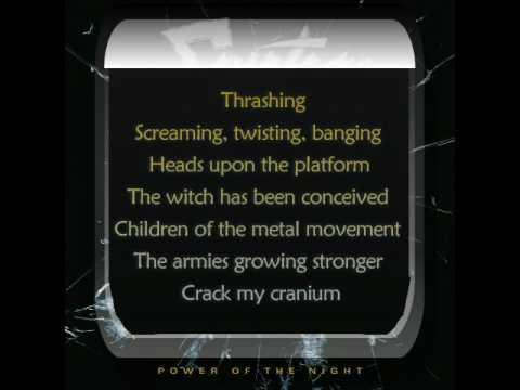 Savatage - Power Of The Night (cut intro /w lyrics)