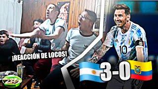REACCIONES de Argentinos | Argentina 3 Ecuador 0 | *a semis* | Copa America 2021