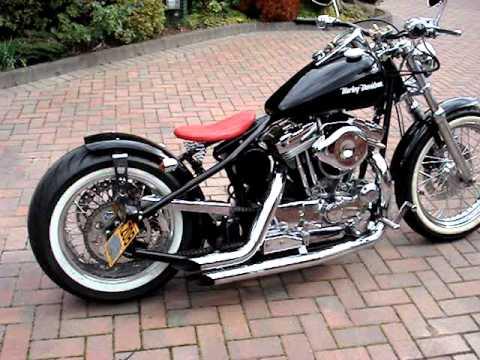 harley davidson 1200 sportster bobber chopper uk hard tail 1 youtube. Black Bedroom Furniture Sets. Home Design Ideas