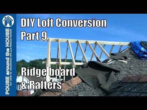 Loft conversion Part 9 - Ridge board, rafters and dormer construction. Pitched roof dormer build!