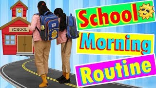School Morning Routine With Twins Sister Ayu And Anu | Routine For School | Fun Videos For Kids