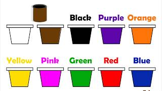 Learn Colors Name For Children Red Green Yellow Brown Purple Black Pink