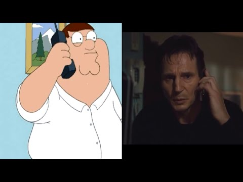 "Family guy Taken parody and original ""I will look for you, I will find you"" - Taken"