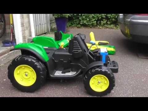 How to assemble Per Perego John Deere ground force Childrens ride on Tractor toy part 1 of 4  29Jul1