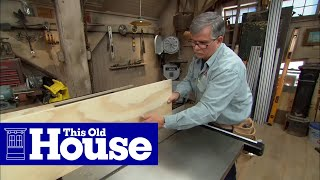 This Old House general contractor Tom Silva creates wall-hung storage for tools and supplies. (See below for a shopping list and