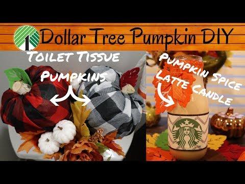 Dollar Tree Pumpkin DIY