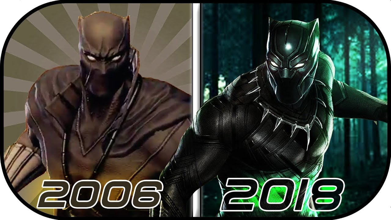 EVOLUTION of Black Panther in Games (2006-2018) black panther history  avengers marvel