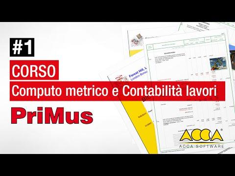 Computo Metrico e Contabilità Lavori - Demo  PriMus - Lez 1.1 - Filosofia e funzioni del software