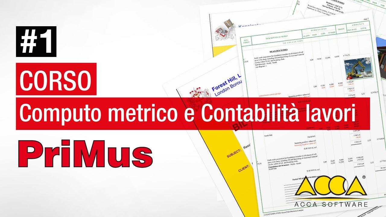 Computo Metrico E Contabilità Lavori Demo Primus Lez 1 1 Filosofia E Funzioni Del Software