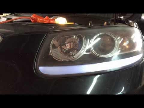 Меняем лампочки передних габаритов на Хундай Сантафе 2006 года Hyundai Santa Fe