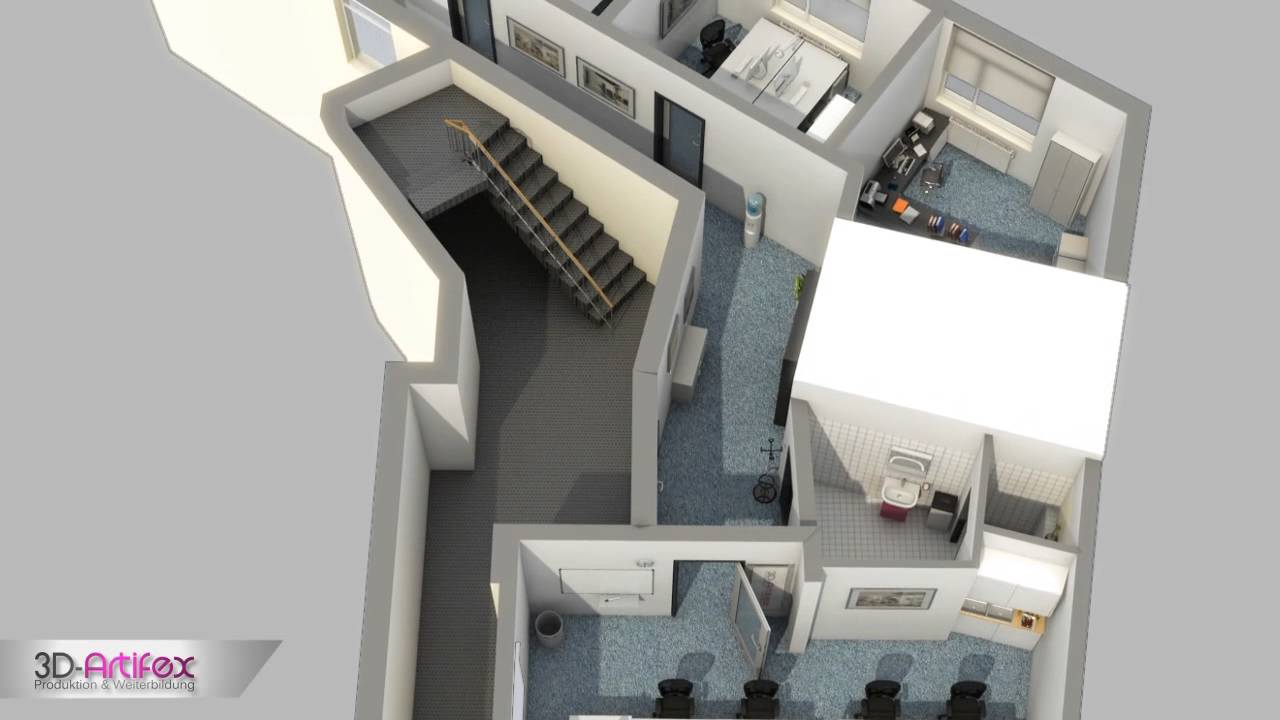 Moderne villa grundriss 3d  3D Grundriss / Grundrissaufbereitung / Grundriss Visualisierung by ...