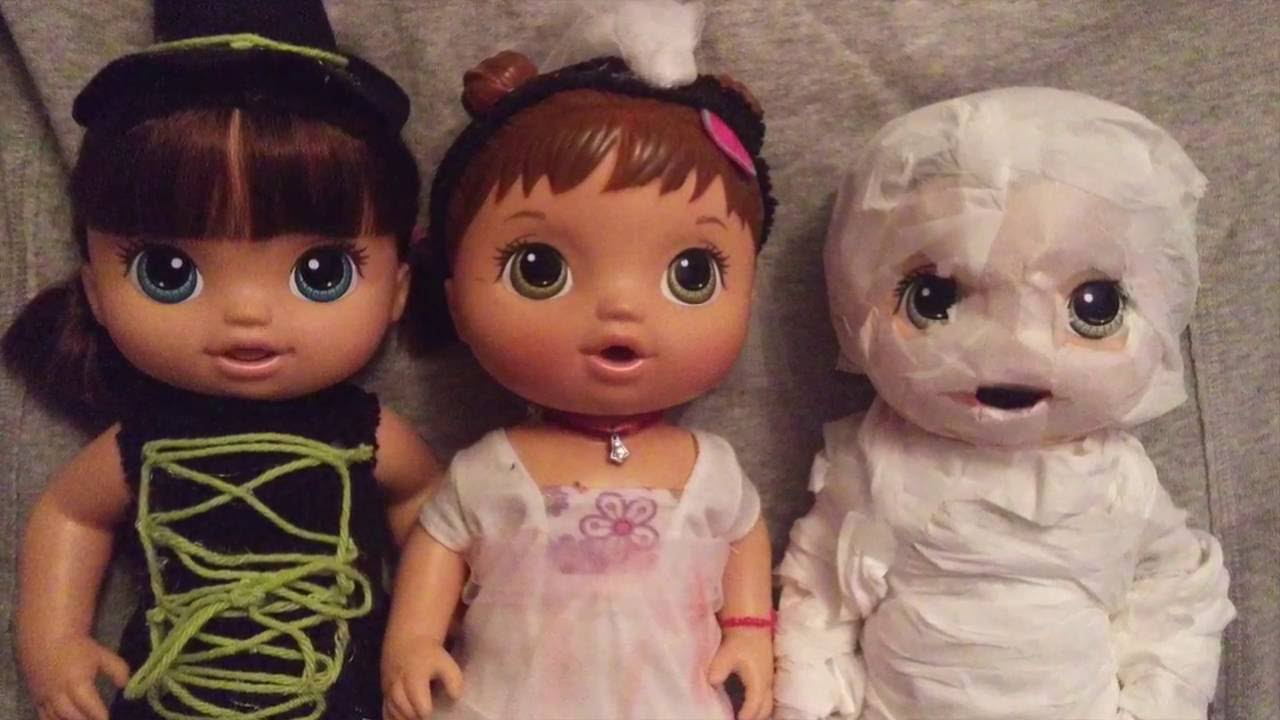 DIY Baby Alive Halloween Costumes! Mummy, Witch, Zombie Bride ...