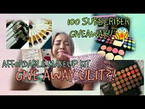 AFFORDABLE MAKEUP KIT + 100 SUBSCRIBER GIVEAWAY (OPEN)   Philippines   Angel Martin #Vlog11
