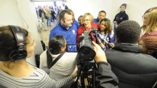 DA leader, Helen Zille speaks to media at Cape Town Airport