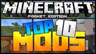 TOP 10 MODS - MINECRAFT PE 0.15.0/0.16.0