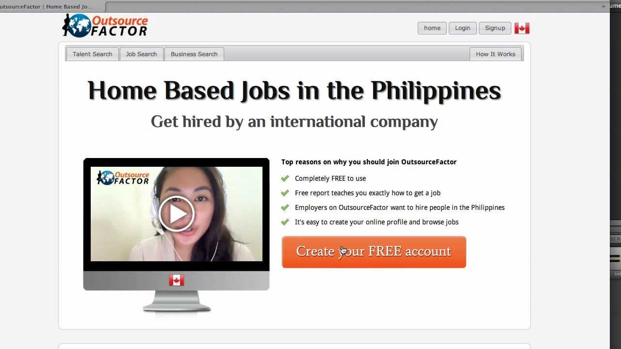 home based job for Filipino - YouTube