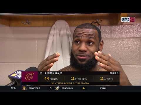 LeBron James interview after Cleveland falls just short l CAVALIERS-76ERS POSTGAME
