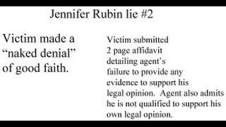 Jennifer Rubin, Professional Liar Part 2