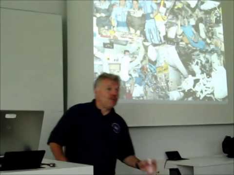 Lecture by astronaut Dr.Reinhold Ewald (MIR´97),July,12th,2014,Stuttgart,Germany