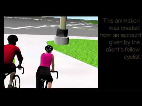 Semi Truck Bicycle Accident Reconstruction MN - Animation to Prove Fault