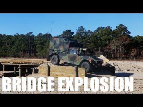 2nd Combat Engineer Battalion Bridge Explosion | Marines