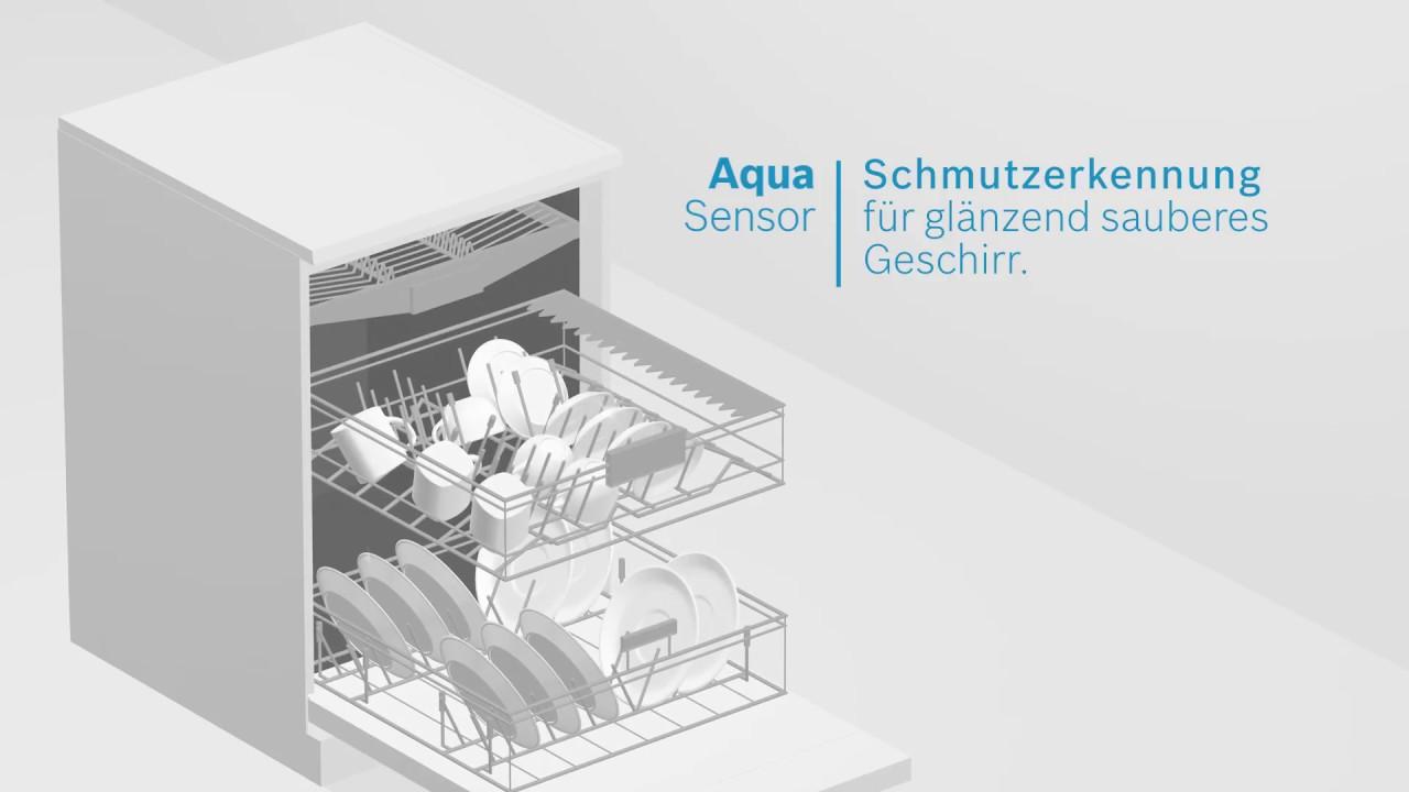 Häufig Geschirrspüler mit AquaSensor von Bosch. - YouTube YP81