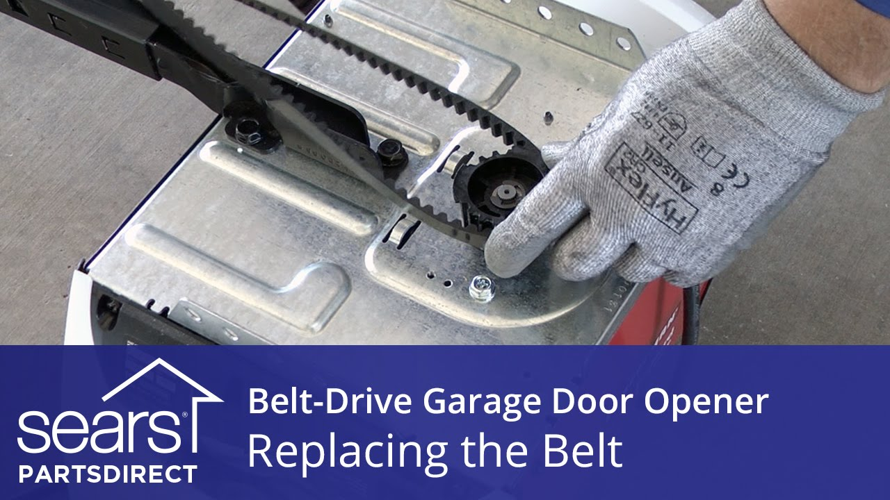 Replacing The Belt On A Belt Drive Garage Door Opener Youtube