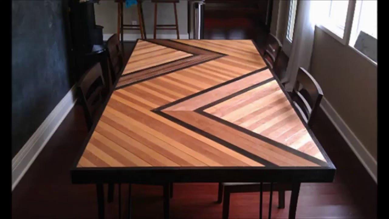 Mesas de madera DIY para comedor  YouTube