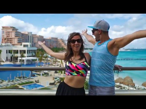 Hyatt Ziva Cancun Resort Travel Video by Vacation Couple with Escapes.ca