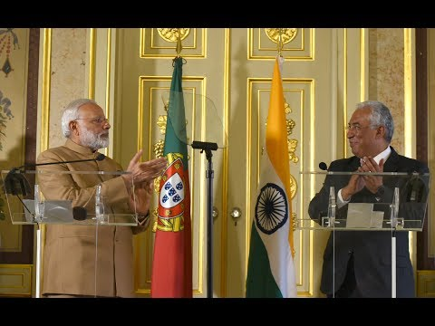 PM Modi at Joint Press Statements with PM of Portugal António Costa in Portugal