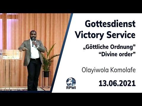 """RPMI-Gottesdienst 13.06.2021 - """"Göttliche Ordnung"""" - Bruder Olayiwola Komolafe"""