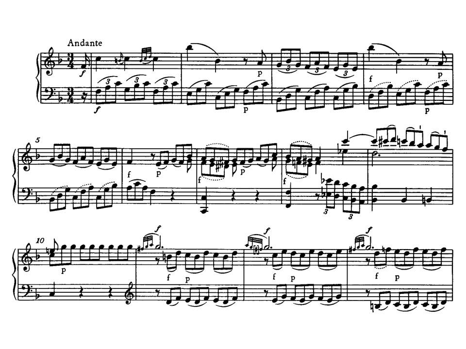 Sonata No.1 C Major KV279 - Piano