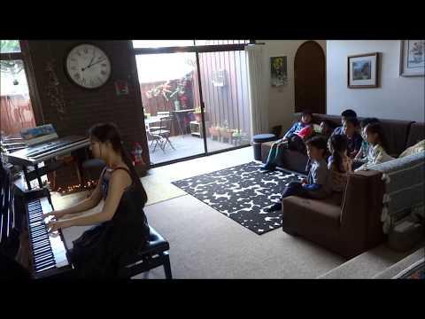Piccolo Piano Lesson Studio OC California by Takako  Bartok Seven Sketches Op.9
