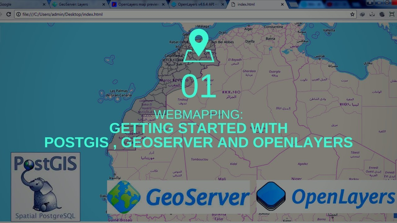 GETTING STARTED WITH POSTGIS , GEOSERVER AND OPENLAYERS
