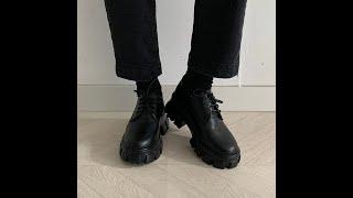 스프링 젠틀 청키 통굽 로퍼 (가보시3cm/굽높이6cm…