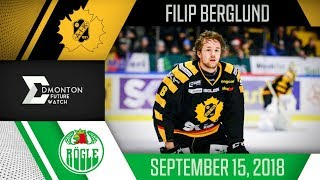Filip Berglund | 1G 1A vs Rogle | Sep. 15, 2018