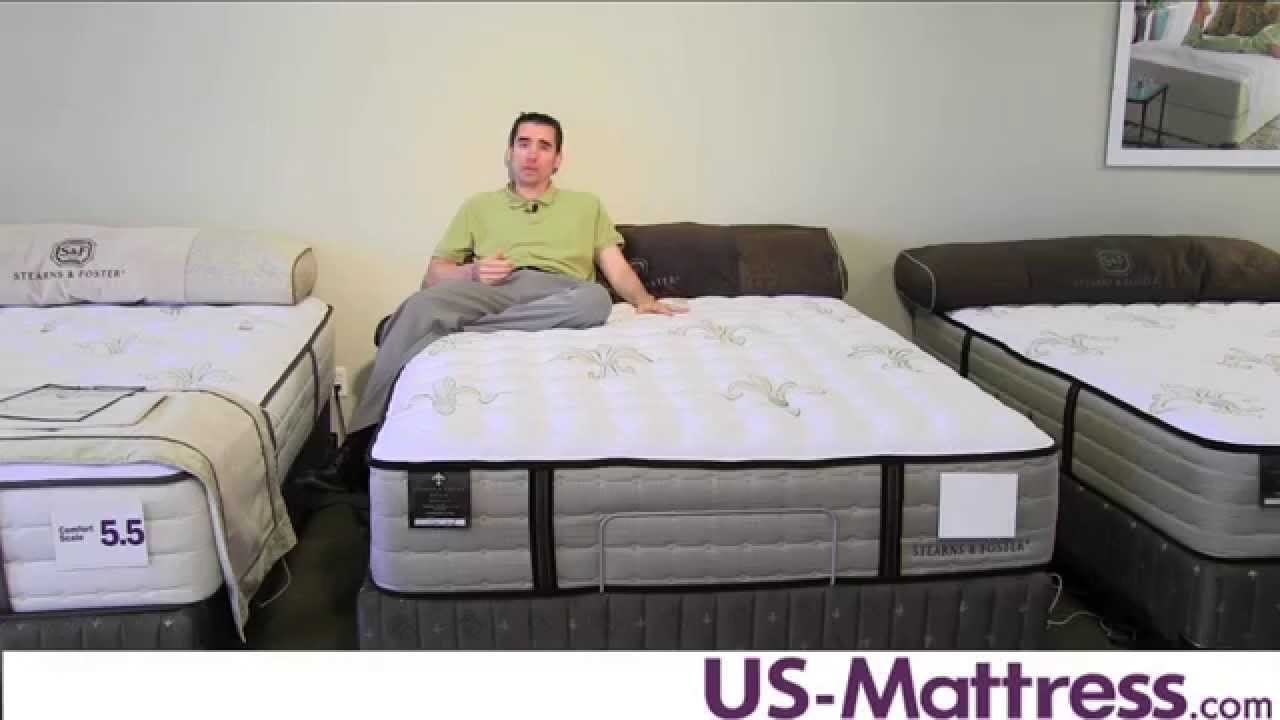 Stearns Foster Estate East Cape Luxury Firm Mattress Youtube