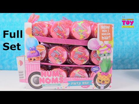 Num Noms Party Hair Series 1 Full Case Pencil Toppers Blind Bag Toy Review | PSToyReviews
