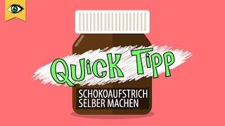Nutella selber machen/Schokoaufstrich/Brotaufstrich: gesund, vegan ohne Zucker Quicktipp Schlaumal